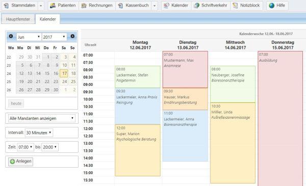 Heilpraktiker Software Terminkalender